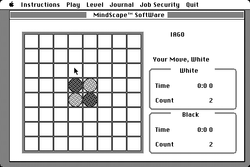 IAGO, an Othello game for Macintosh from 1984